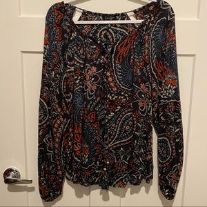Printed Cut-out Jessica Simpson Top